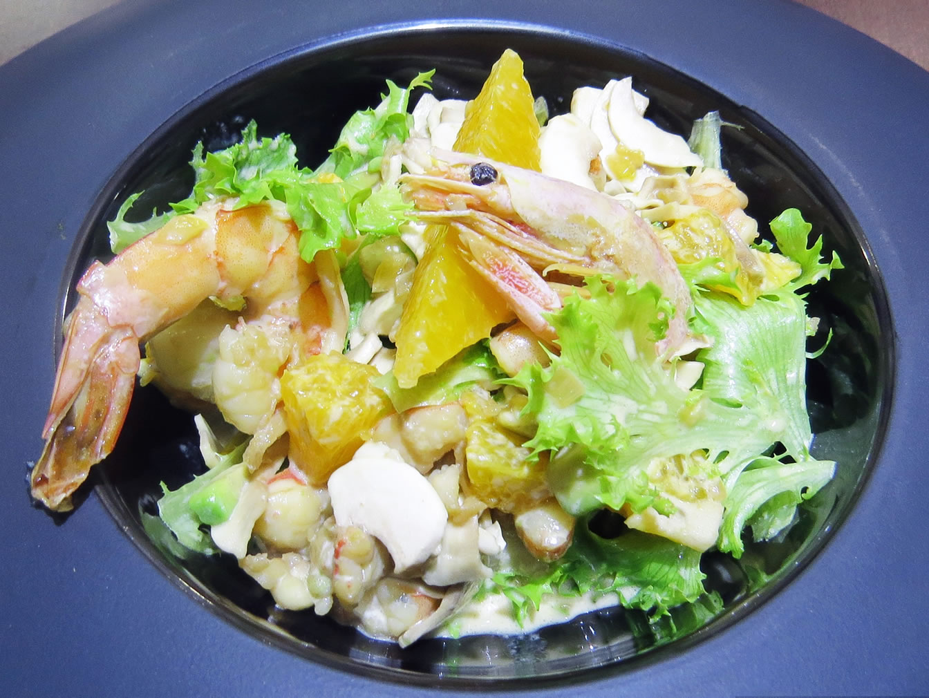 Салат от Давида Десо ресторан Аннам Брахма в Оренбурге