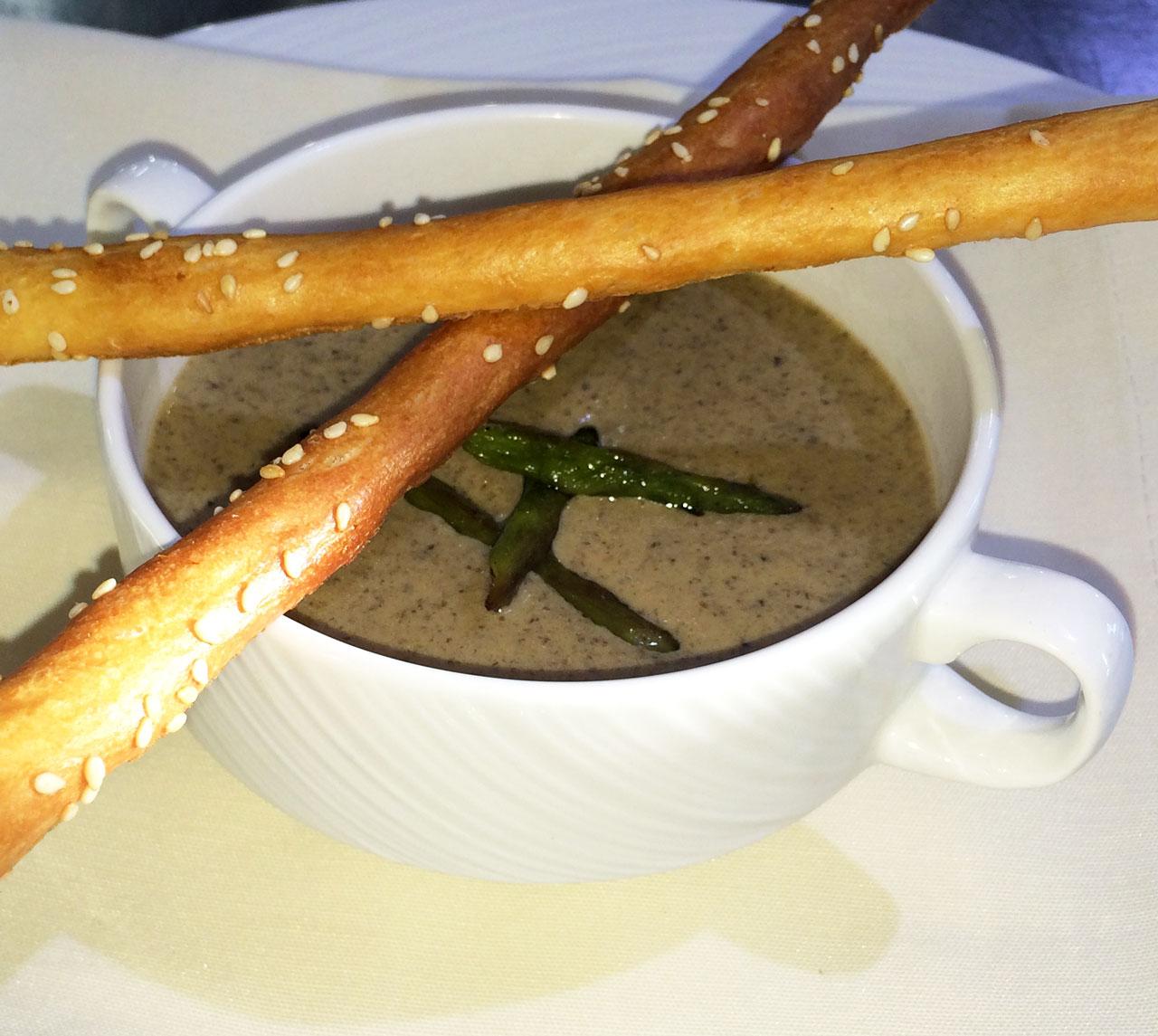 Суп-пюре с белыми грибами - ресторан Аннам Брахма в Оренбурге