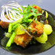 Теплый салат из семги ресторан Аннам Брахма в Оренбурге