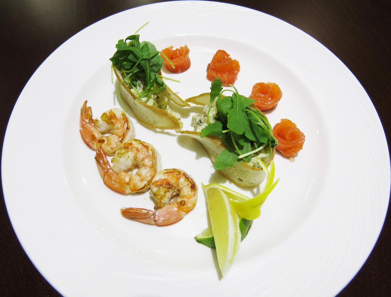 Три креветки ресторан Аннам Брахма в Оренбурге