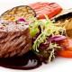 стейк филе минон с овощами гриль ресторан Аннам Брахма в Оренбурге