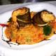 Филе сибаса с овощами и соусом биск - ресторан Аннам Брахма в Оренбурге