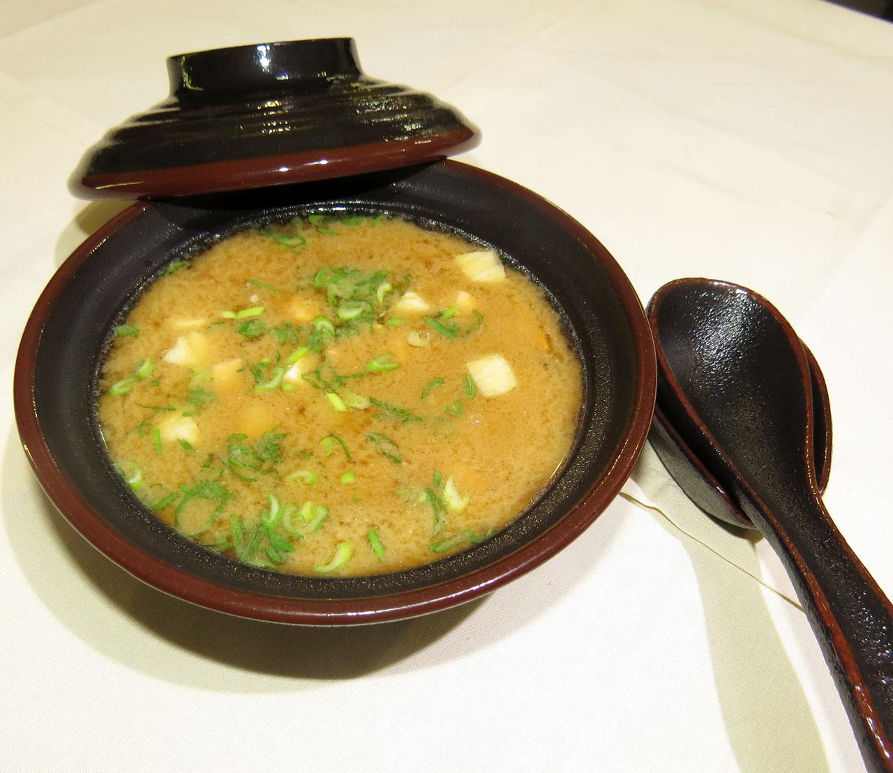 Кайсен Мисо Ширу Мисо суп с морепродуктами. Ресторан Аннам Брахма в Оренбурге