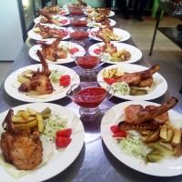 Вкусное мясо на Хоспере на свадьбе в ресторане Аннам Брахма в Оренбурге