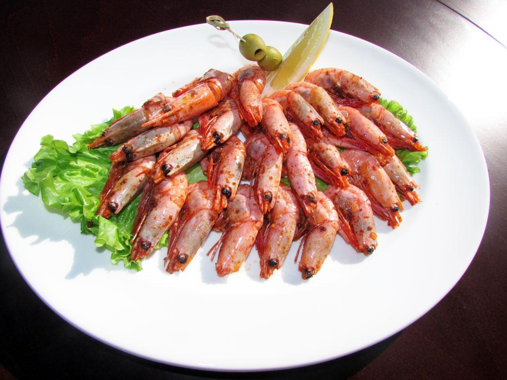 Креветки жареные - в ресторане Аннам Брахма в Оренбурге