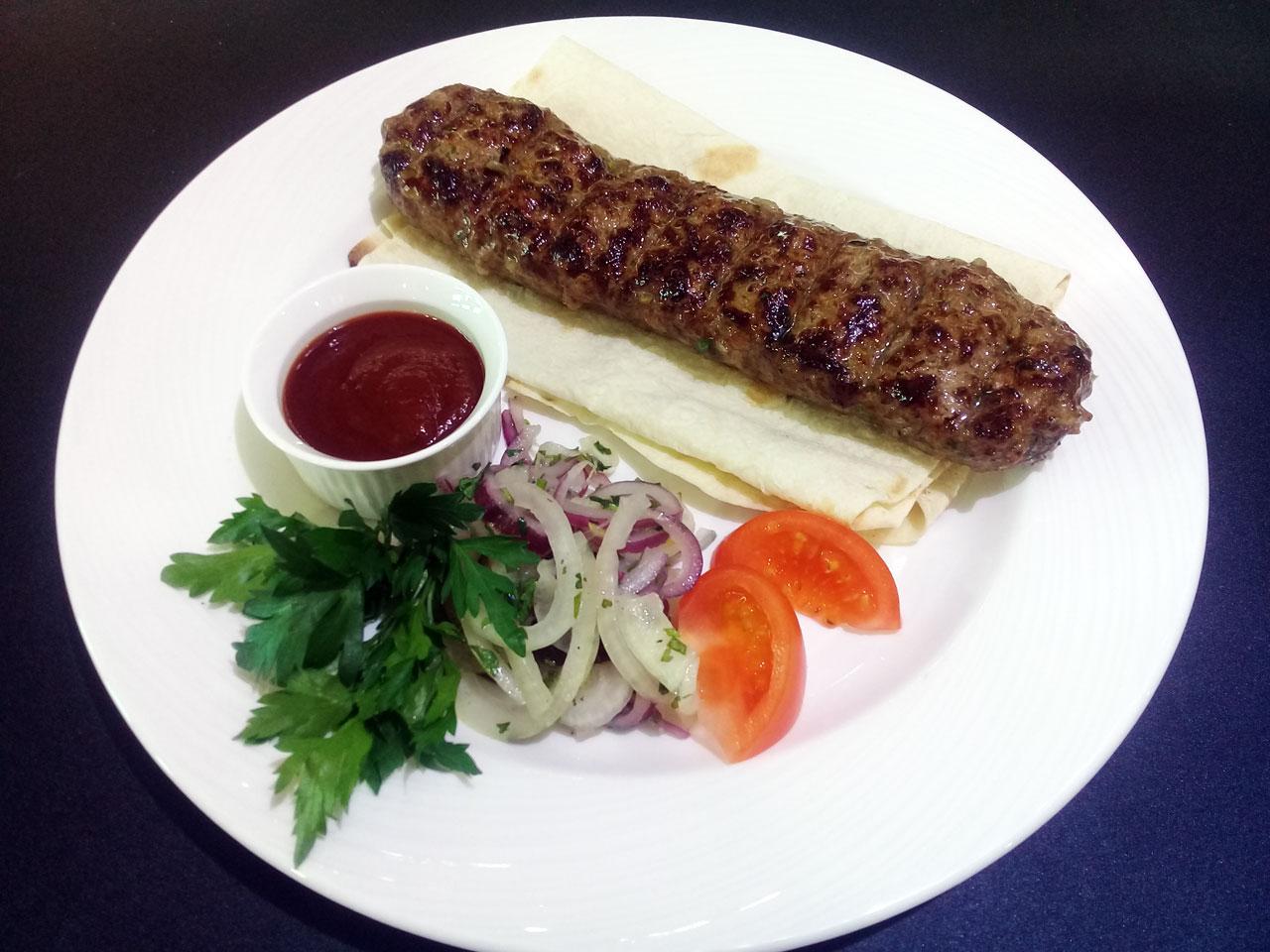 Люля-кебаб из мраморной говядины - ресторан Аннам Брахма в Оренбурге