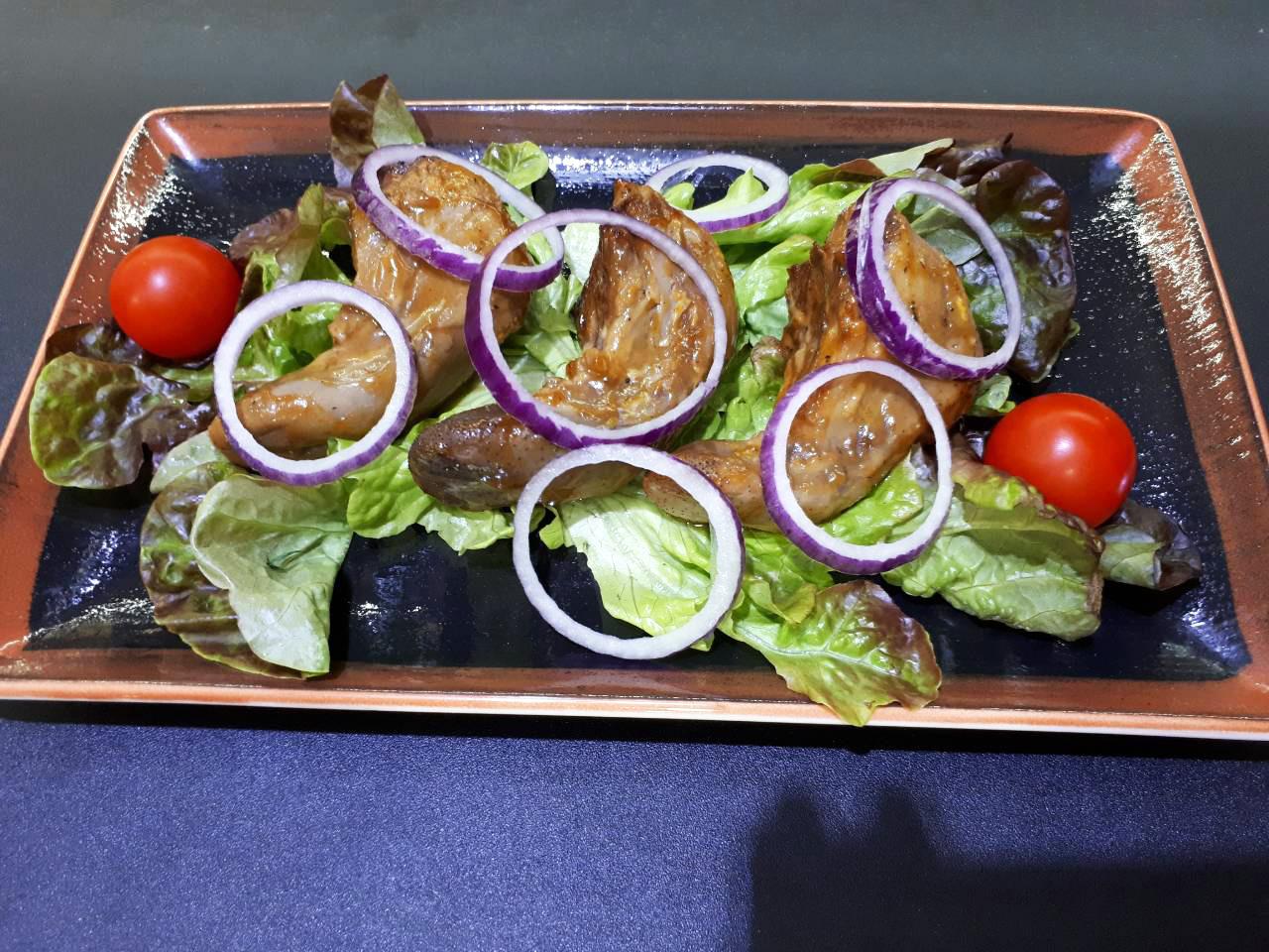 Шашлык из языка баранины в ресторане Аннам Брахма в Оренбурге